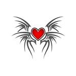 Tribal Heart Wings