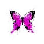Pink Butterfly Graffiti