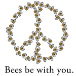Bees be with you (peace symbol)