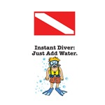 Instant Diver with Dive Flag