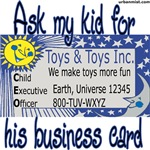 Ask my kid for his business card