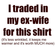 I traded my ex wife