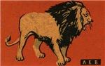 Lion Matchbox Label