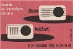 2 Radios Matchbox Label