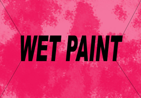 HUMOR/WET PAINT RED