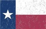Wrinkled Texas Flag