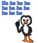 Evil laughing Penguin