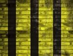 Yellow and Black Stripes Brick Wall