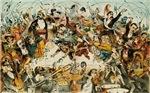 The Operatic War Vintage Illustration
