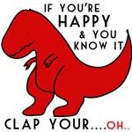 dinosaur loves clapping