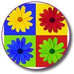 Retro Daisy Flower