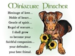 Miniature Pinscher Heritage of Love Gifts