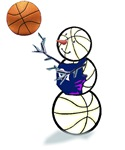 Basketball Snowman