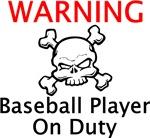 Warning Baseball Player