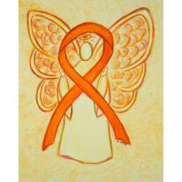 Orange Awareness Ribbon Angel