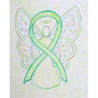 Lime Green Awareness Ribbon Angel