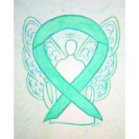 Jade Green Awareness Ribbon Angel
