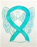 Light Teal Awareness Ribbon Angel