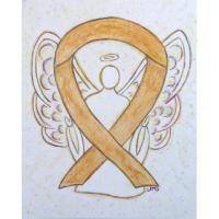 Amber Awareness Ribbon Angel