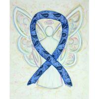 Thyroid Disease Awareness Ribbon Angel