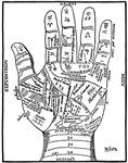 1640 Palmistry Hand
