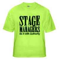 Stage Managers do it with authority