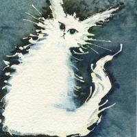 Whimsical White Cat Gifts