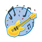 Guitar and Music Notes Design