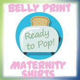 Funny Belly Print Maternity Shirts