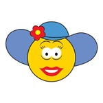 Girl Smiley Face With Hat
