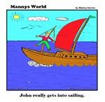 JOHN REALLY GETS INTO SAILING