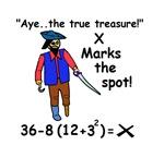 X MARKS THE SPOT OF MATH TREASURE