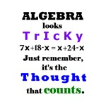 ALGEBRA looks TRICKY - THOUGHT that COUNTS