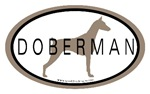 Doberman Dog Oval