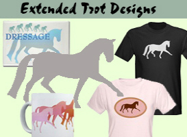 Extended Trot Dressage t-shirts & Gifts