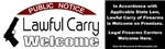 Lawful Carry Welcome sticker (any state)