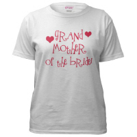 Grandmother of the Bride Wedding T Shirts Hip