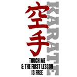 Karate teeshirts - touch me, 1st karate lesson fre