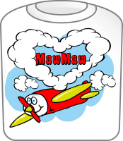 Love MawMaw Cute Airplane