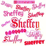 Sheffey Fonts - 9677 - Pink and Red