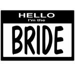 Bride Nametag (black)