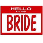 Wedding Nametag (red)