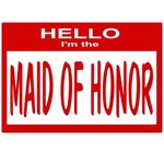 Maid of Honor Nametag (red)