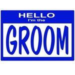 Groom Nametag (blue)
