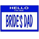 Brides Dad Nametag (blue)