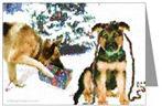 GSD Puppy & Dog Mischief