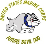 USMC Future Devil Dog Design - Gold