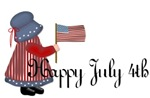 Happy July 4th - Little Country Girl