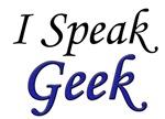I Speak Geek, blue
