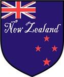 New Zealand Flag Crest Shield